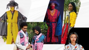 나이지리아 앙카라(Ankara)로 만든 이색 한복 전시회 개최 , 1등 수상작품